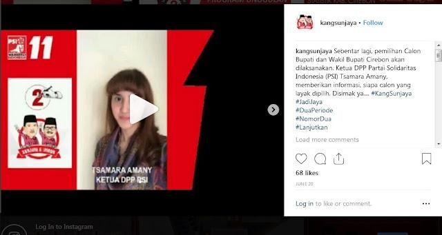 Jejak Digital, PSI Dukung Bupati Cirebon yang Koruptor