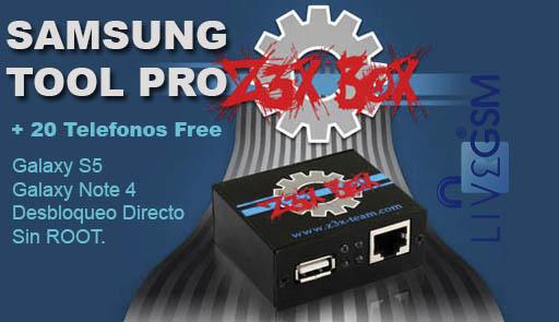 Z3X Samsung Tool Pro Versión 2 4.3 Libera Galaxy S5 Galaxy Note S4, (Desbloqueo Directo Sin Root ) flashea y repara Equipos Samsung 2017