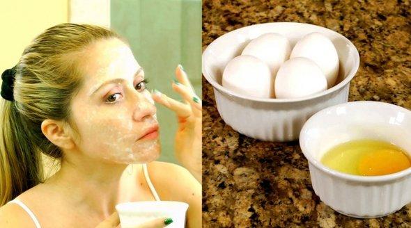 masca fata cu albus de ou
