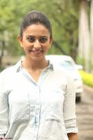 Rakul Preet Singh in Jeans and White Shirt At Jaya Janaki Nayaka le Logo Launch ~  Exclusive 058.JPG