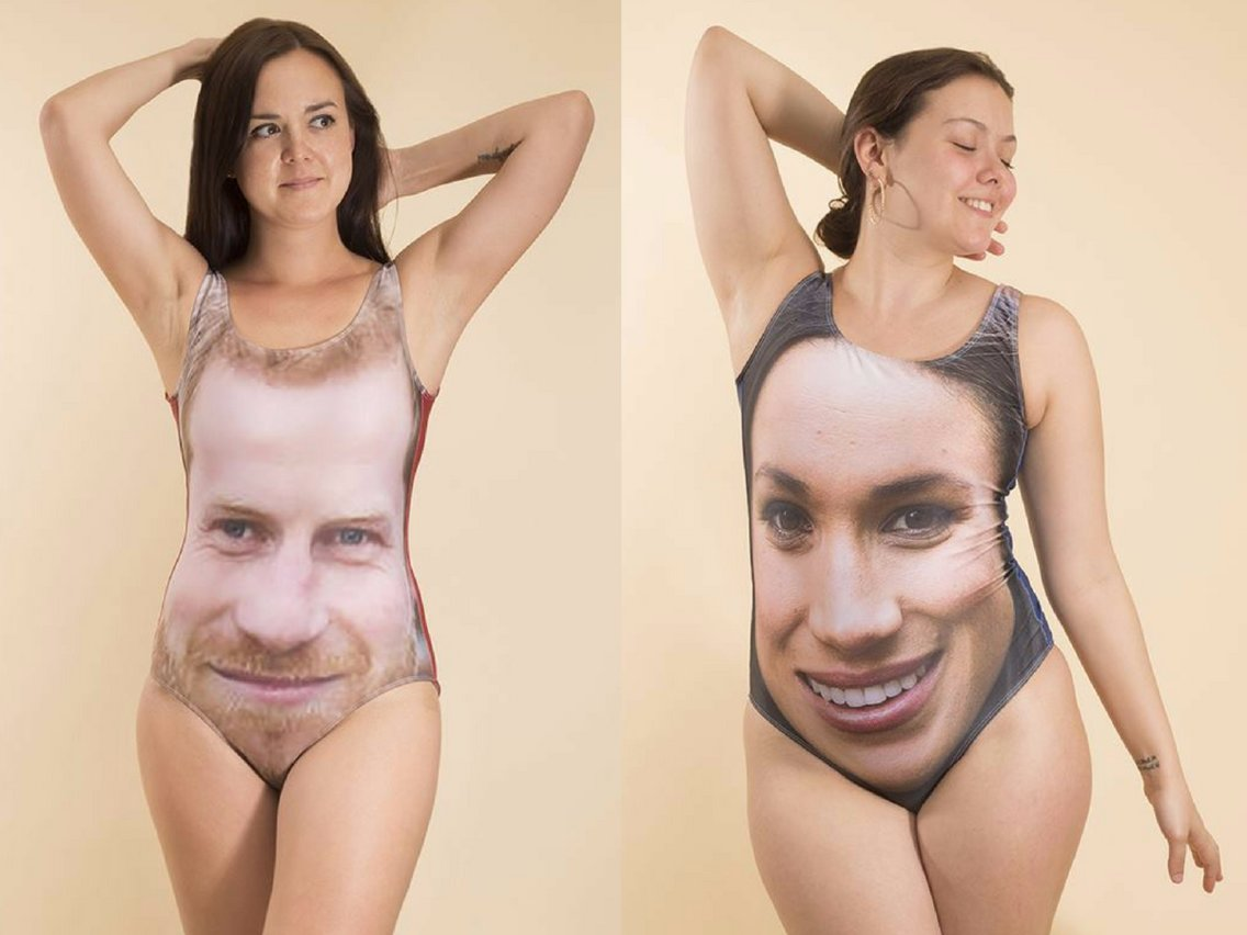 Prince Harry and Meghan Markle swimsuits from Bags of Love