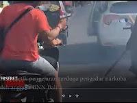 Mobil Seret Motor Hingga Terbakar, Tembakan Peringatan Anggota BNN Tak Dihraukan, Lihat Videonya