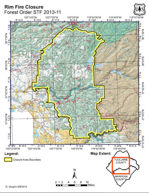 Forest Stanislaus Map National Fire
