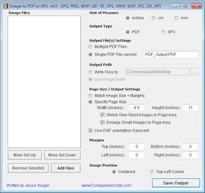 Image To PDF or XPS V4.0 免安裝版,批量圖片轉換成PDF或XPS文件!