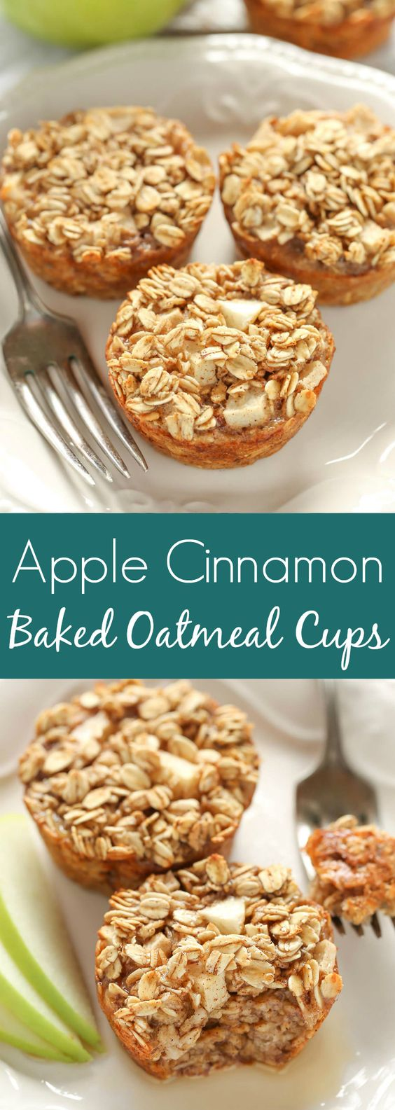 Delicious Apple Cinnamon Baked Oatmeal Cups