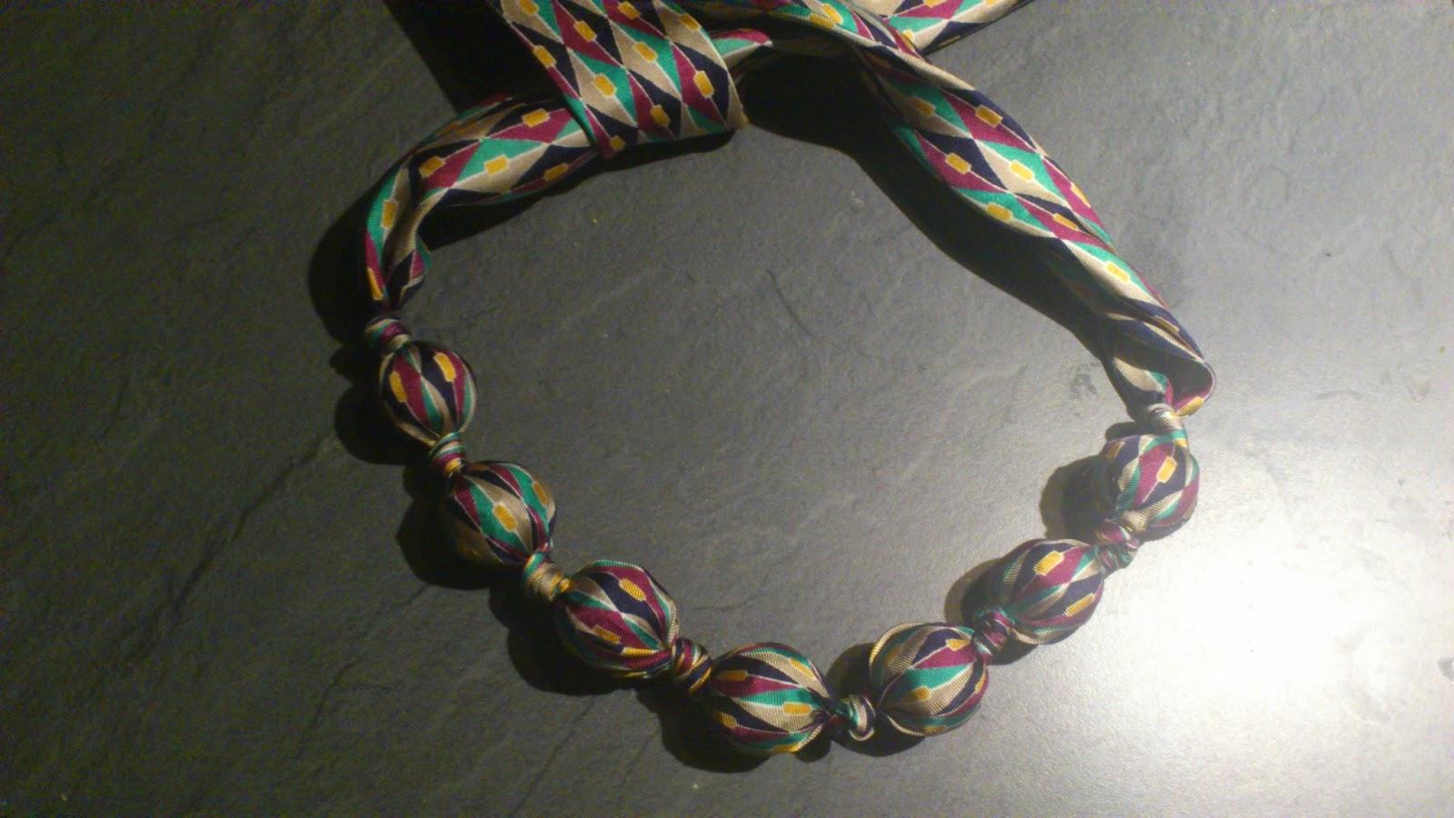 La Casin di Ale tutorial riciclo creativo di una cravatta la collana