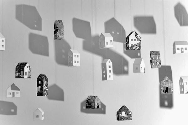 movil de casitas de papel