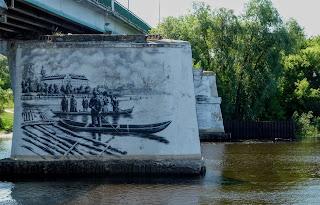 Пінськ. Піна. Опори старого мосту