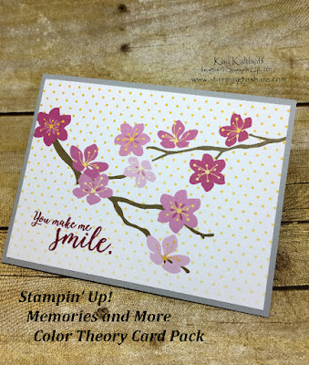 Color Theory Card Pack, Spring using the Memories and More product line by Stampin' Up! Created by Kay Kalthoff with Stamping to Share.