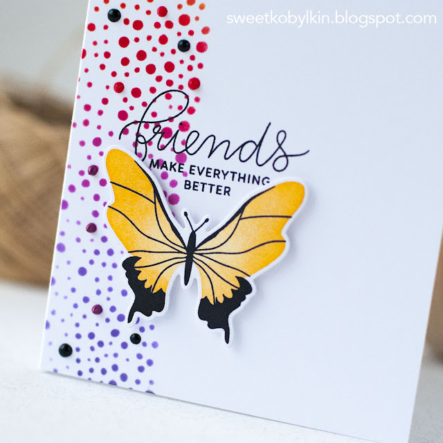 One Layer Butterfly Card