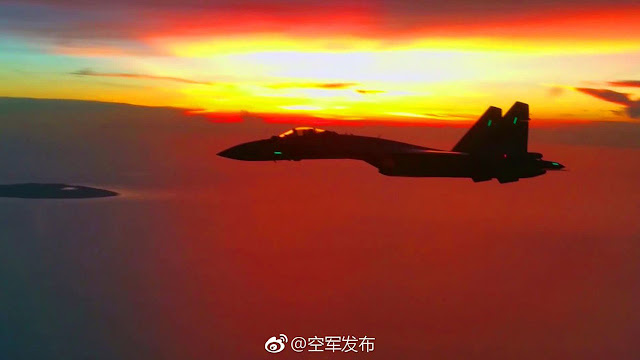 Image Attribute: PLAAF's Su-35S flying over the South China Sea / Source: Local Chinese Media