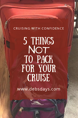 5 things not to pack for your cruise