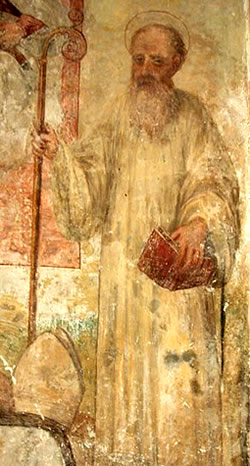 Fresco depicting Joachim of Flora