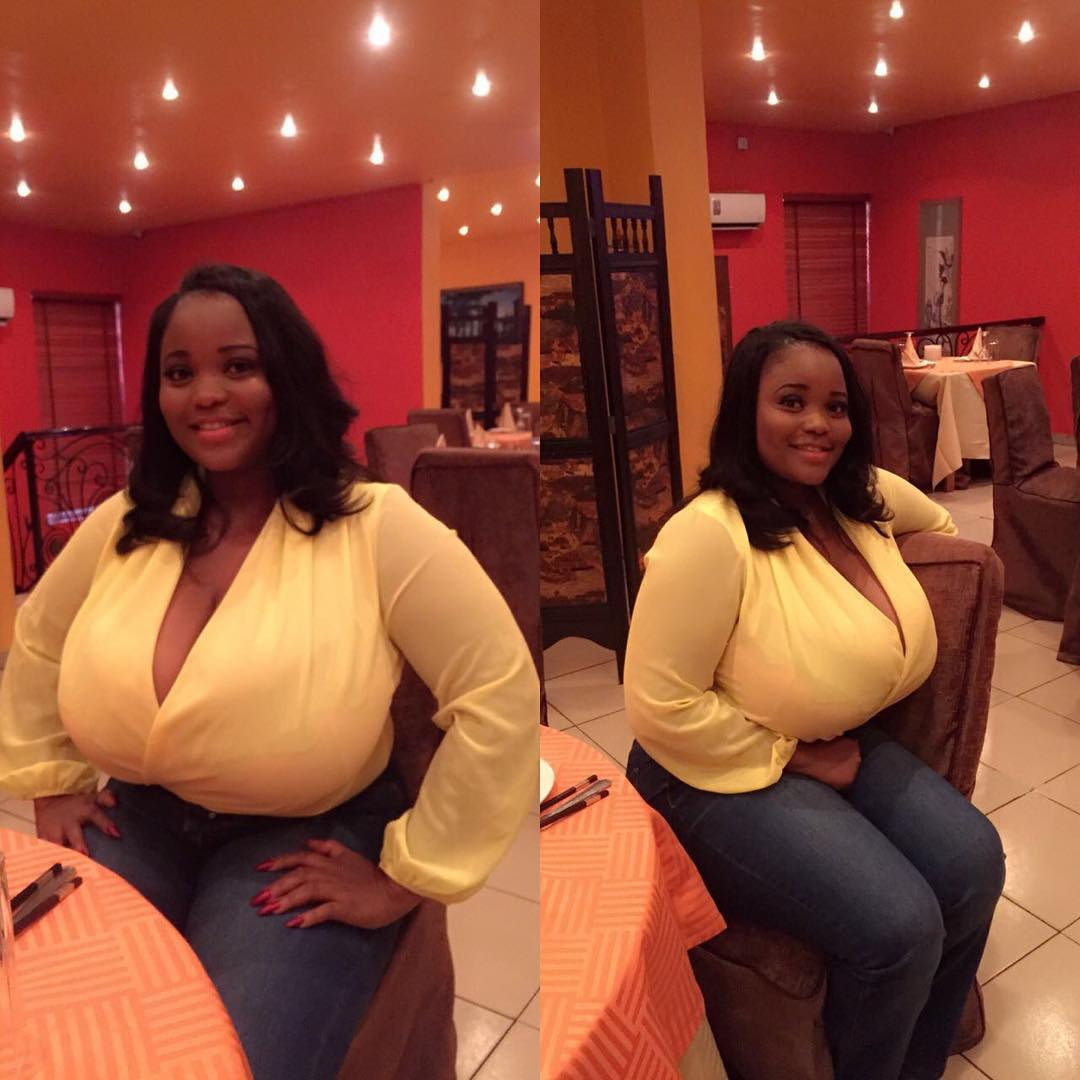 Nigerian Lady With Huge Boobs Causes Commotion On -4388