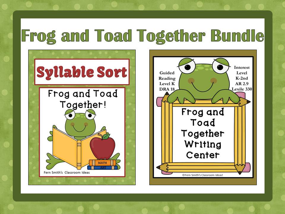 Fern Smith's  Frog and Toad Together Bundled Literacy Center for Common Core