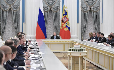 Vladimir Putin at the meeting of Council for Strategic Development and Priority Projects.