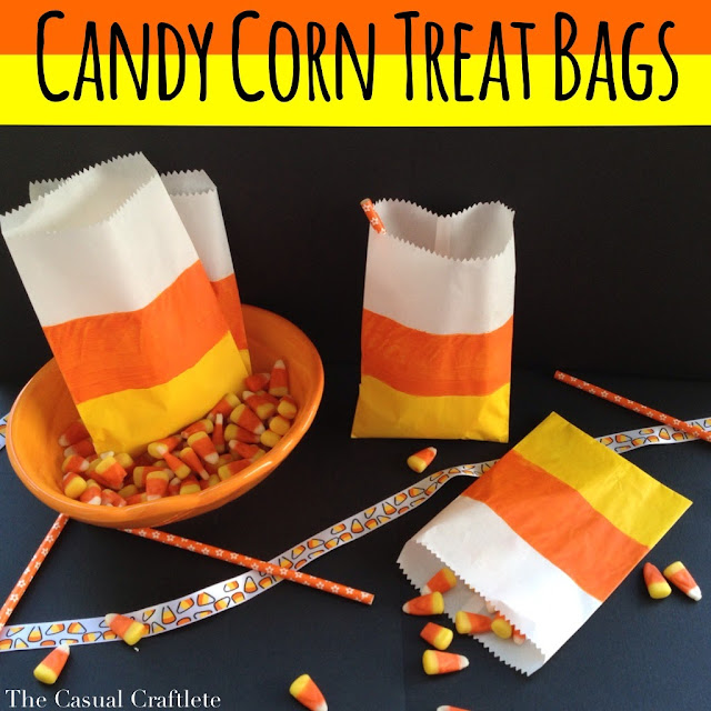 Candy Corn Treat Bags | #diy #halloween #candycorns