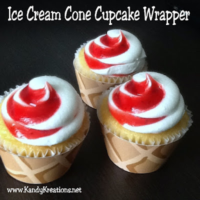 What a fun way to turn your cupcakes into ice cream cones! Use this free printable cupcake wrapper that looks like a waffle cone to easily add some flair to your ice cream party.