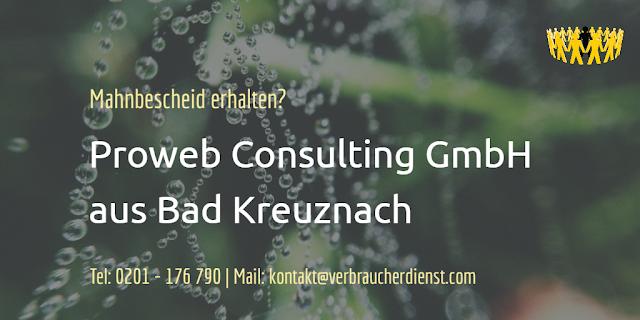 Titelbild: Mahnbescheid Proweb Consulting GmbH aus Bad Kreuznach