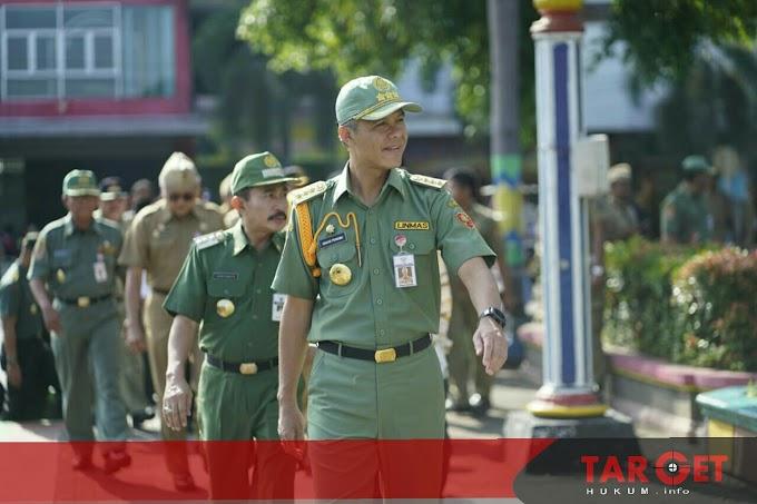 Pimpin Apel di Alun Alun Pati, Gubernur Ganjar Pranowo Ungkap Persiapan Satlinmas Jelang Pemilu 2019