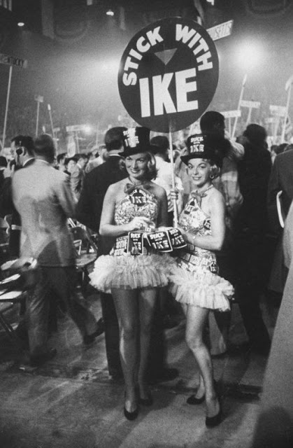 1956 Republican National Convention, San Francisco, California. Stick with Ike