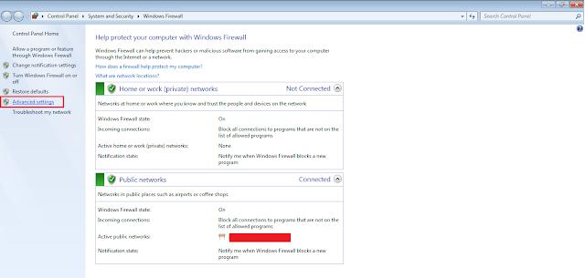 Cara Memblokir Port Pada Windows 7, 8 dan 10