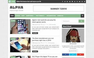 Alpha Niche Blogger Template