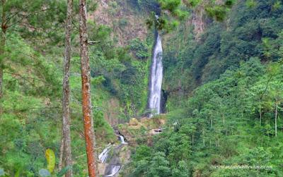 Curug Bajing dikelilingi hutan