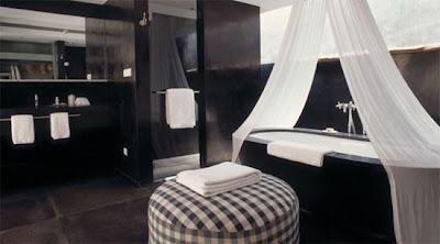 Arquitectura y diseño hermoso  en este Resort de lujo en Bali Indonesia- diseño de baño