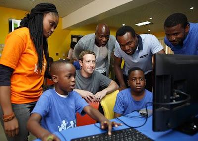 Mark Zuckerberg at CcHUB in Yaba