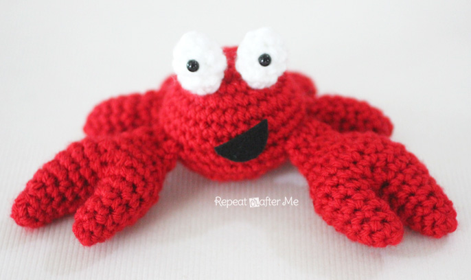 Crochet Crab Pattern Repeat Crafter Me