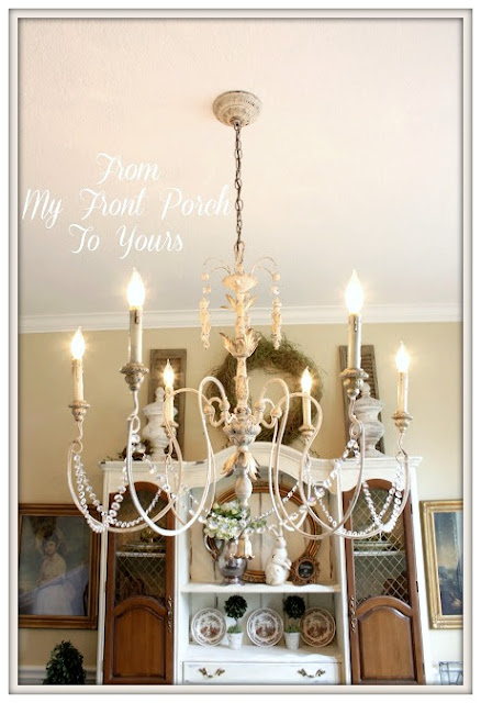 Dining Room-French Chandelier-From My Front Porch To Yours
