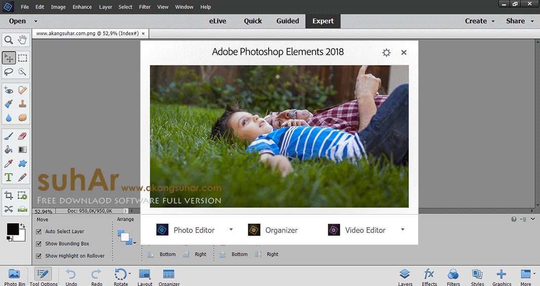 Free download software Adobe Photoshop Elements 2018 final latest version terbaru gratis serial number patch keygen crack license key activation code www.akangsuhar.com