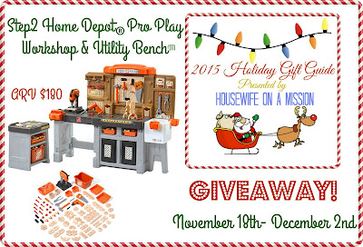 New Age Mama Step2 Home Depot Proplay Workshop Giveaway