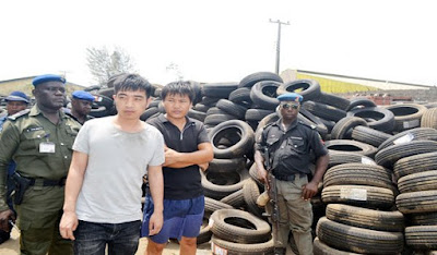 2 Chinese arrested,company sealed over importation of fake and substandard tyres worth N5bn