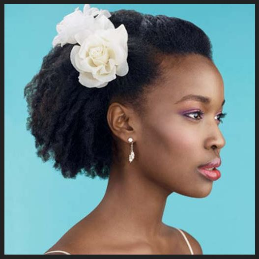 african bridal hairstyles with white flowers pictures