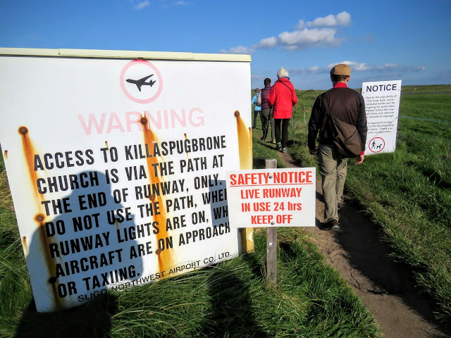 Warning on the trail near Strandhill in County Sligo, Ireland