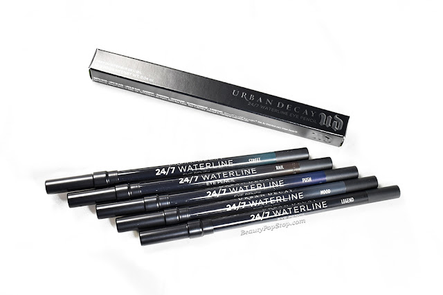 Urban Decay 24/7 Waterline Eyeliner Swatches & Review