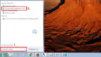 stops automatic update in windows 7