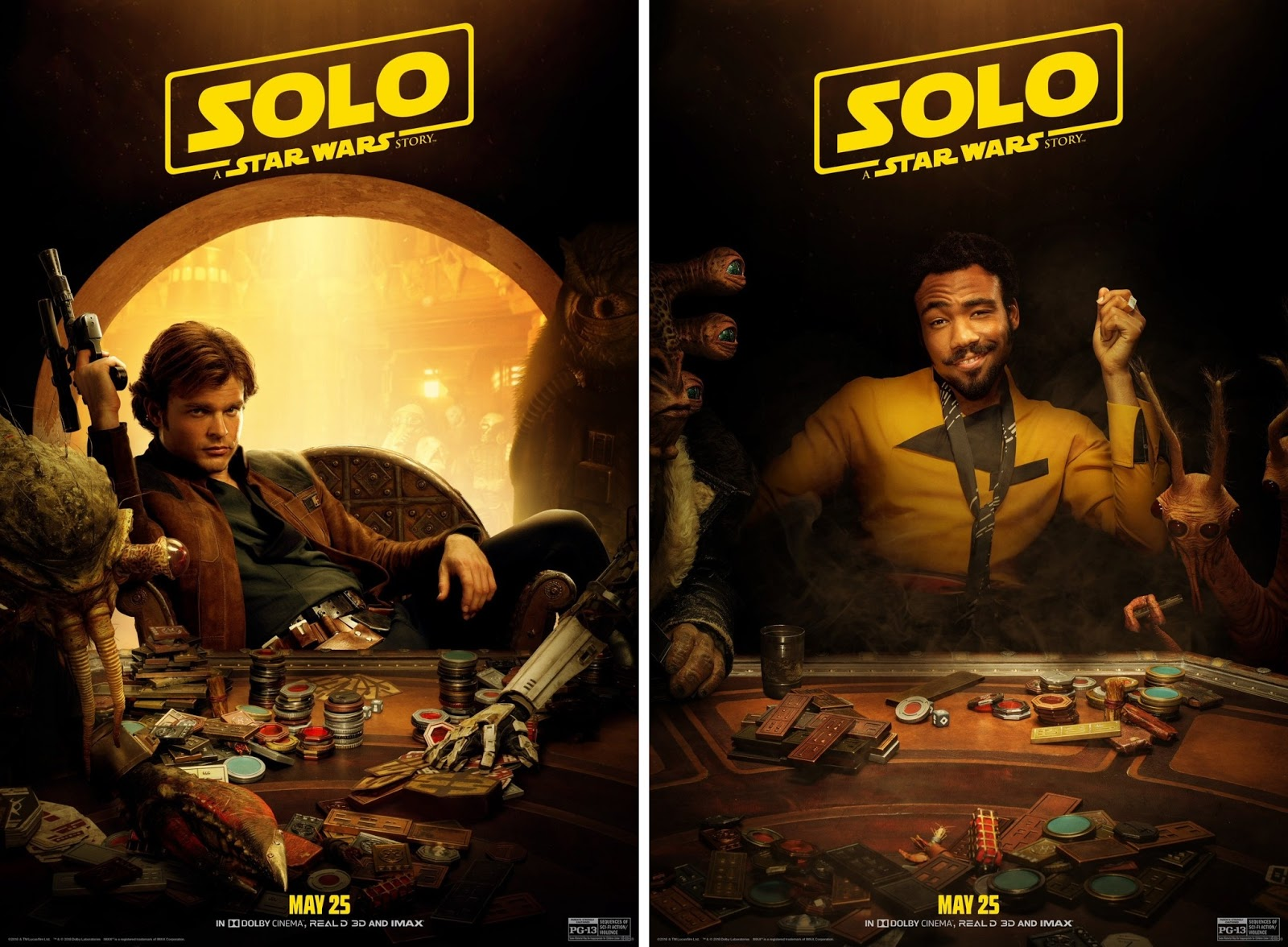 promo code 3a2ac 596ec Solo  A Star Wars Story Sabacc Playing Character Movie Posters