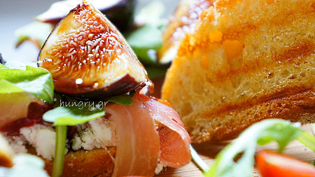 Goat Cheese Crostini with Prosciutto and Figs