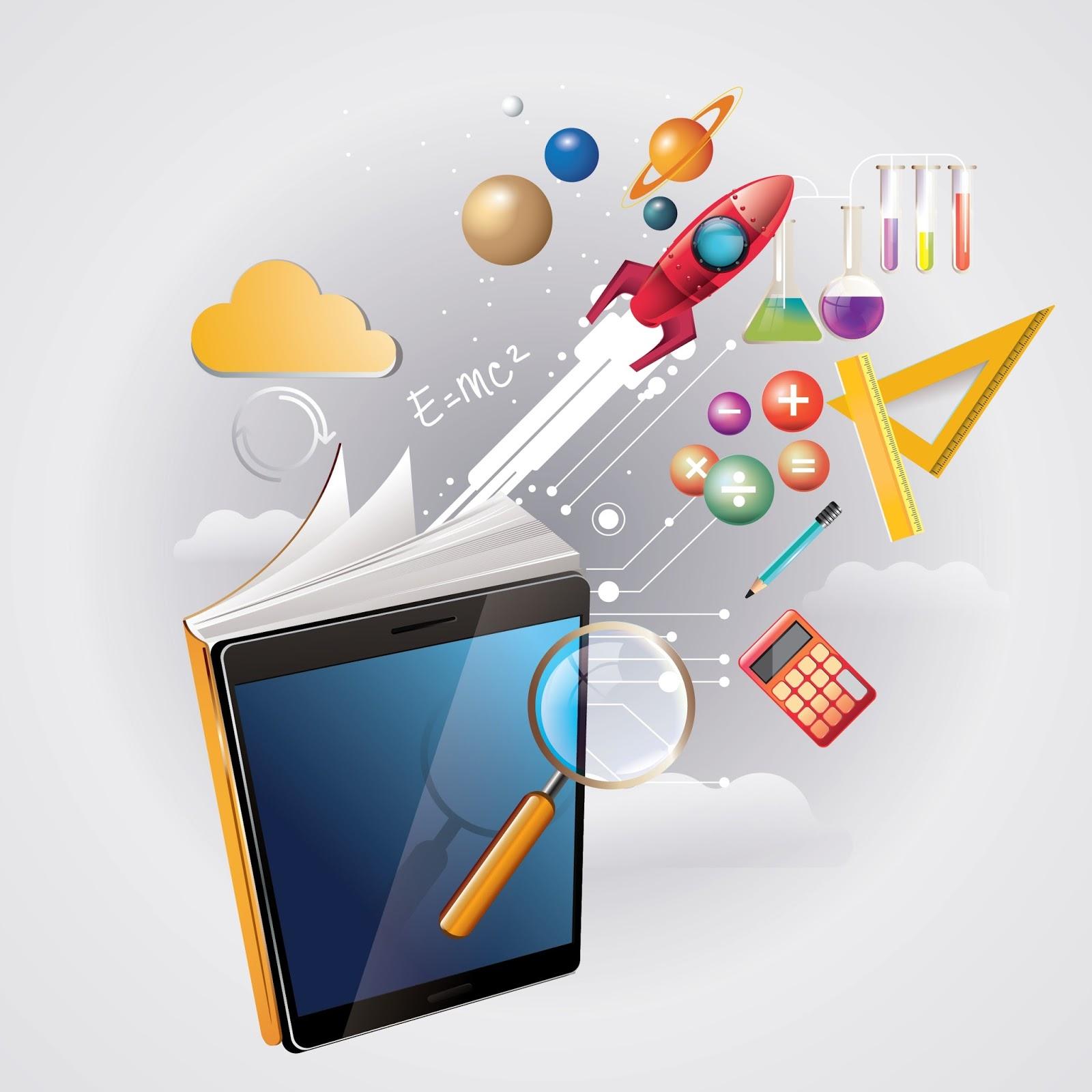 E-learning concept Ebook