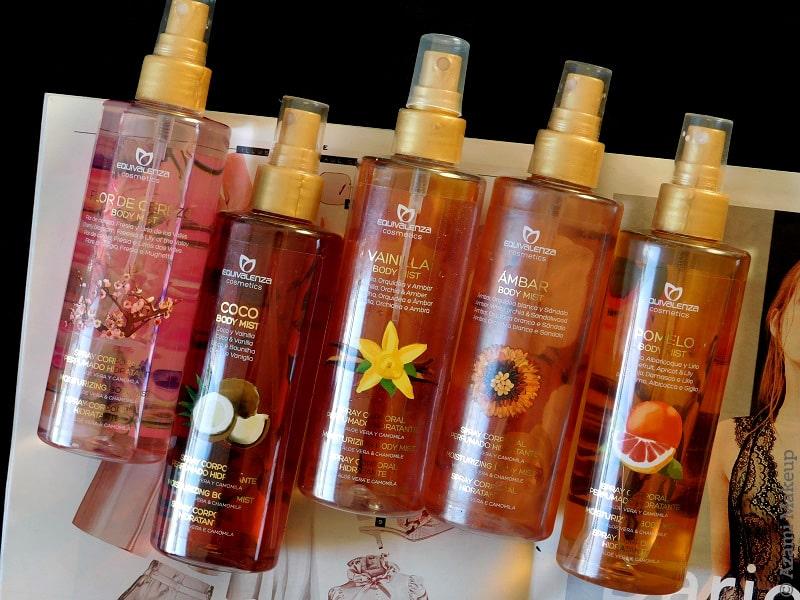 Equivalenza | Body Mists Review - Avis Brumes Corporelles - Flor de Cerezo Cherry Blossom Fleur de Cerisier - Vanilla - Pomelo - Coconut Noix de Coco - Amber Ambre