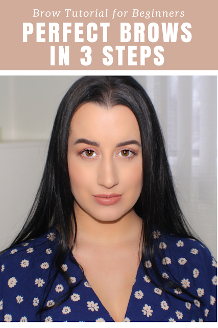 How To Fill In/Sculpt Eyebrows in 3 Steps | Brow Tutorial for Beginners