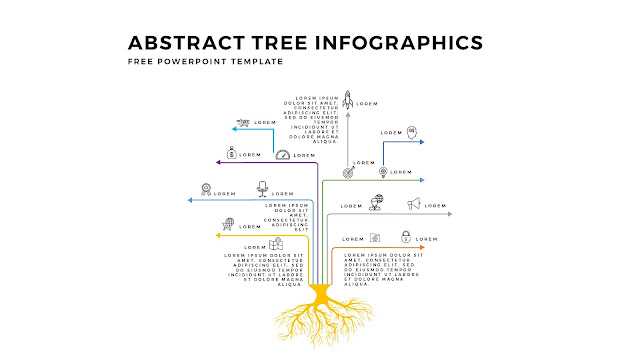 Free Tree Infographics PowerPoint Template with Design Elements Slide 1
