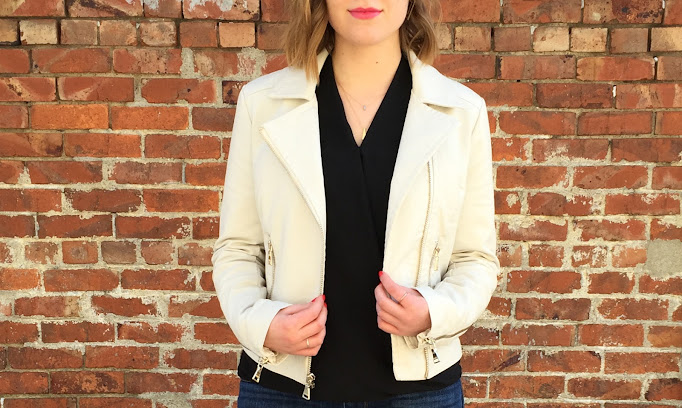 White leather is the perfect amount of edgy and fun