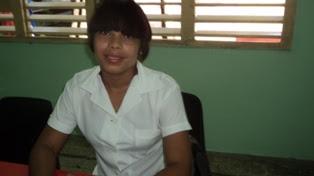 Laritza Ramírez Suárez, presidenta de la  Federación de Estudiantes de la Enseñanza Media (Feem) de las especialidades de Tecnologías de la Salud