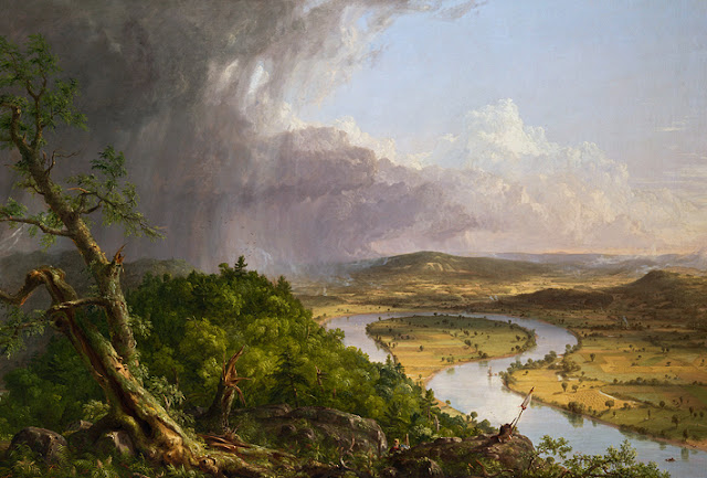 iew from Mount Holyoke, Northampton, Massachusetts, after a Thunderstorm — The Oxbow, Thomas Cole, 1836