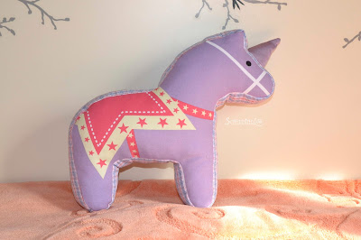 подушка игрушка, лошадка, единорог