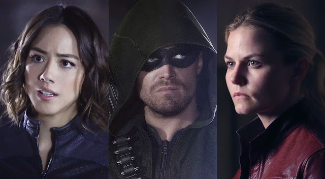 agents of shield, arrow, once upon a time